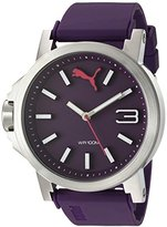 Puma Women's Quartz Stainless Steel and Polyurethane Watch, Color:Purple (Model: PU103462011)