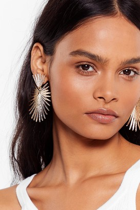 Nasty Gal Womens Shine the Brightest Drop Star Earrings - Gold