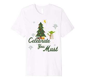 Star Wars Christmas Yoda Celebrate You Must Premium T-Shirt