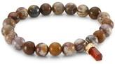 Sydney Evan Tiger Opal 14K Yellow Gold & Hessonite Charm Beaded Bracelet
