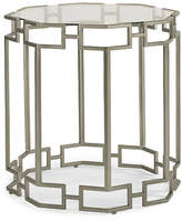 Caracole Textured Octagon Side Table - Nickel