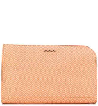 Zanellato textured logo clutch
