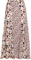Theory Floral-Print Silk-Chiffon Maxi Skirt