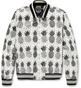 Dolce & Gabbana Pineapple-Print Shell Bomber Jacket
