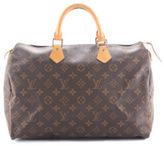 Louis Vuitton Monogram Canvas Speedy 35 Satchel Handbag BY4263 MHL
