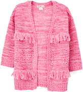 Pink Angel Pink Twist Fringe-Accent Open Cardigan - Toddler & Girls