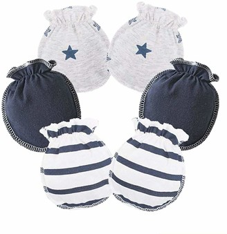 LOVARTS BEAUTY 3 Pack Baby Girl Boy Combed Cotton Gloves Newborn Scratch Mittens Breathable