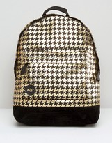 Mi-Pac Mi Pac Backpack In Metallic Houndstooth
