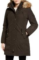 MICHAEL Michael Kors Women's Faux Fur Trim Down & Feather Fill Parka