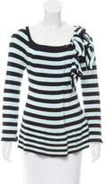 Sonia Rykiel Striped Flounce Cardigan