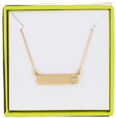 BaubleBar 14K Gold Plated Ice &S& Initial Bar Pendant Necklace