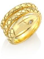 Temple St. Clair Double Serpant Diamond & 18K Yellow Gold Ring