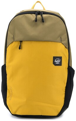 Herschel Two-Toned Logo-Patch Backpack