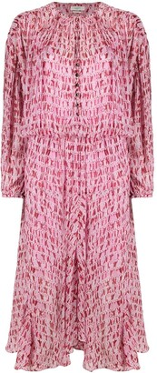 Etoile Isabel Marant Long-Sleeve Tie-Dye Dress