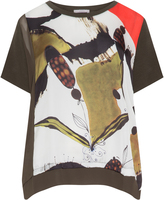 annalisa Plus Size Mixed print t-shirt