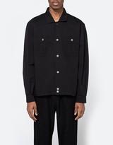 Our Legacy Harrington Shirt Black Light Gabardine