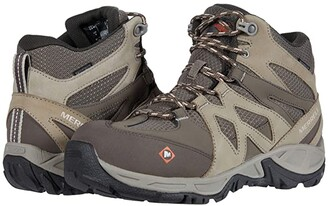 Merrell Work Siren Mid Waterproof Alloy Toe (Brindle/Boulder) Women's Shoes