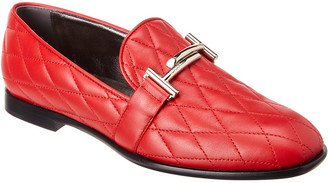 Tod's TodS Double T Quilted Leather Loafer