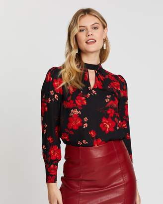 Dorothy Perkins Floral Honey Long Sleeve Blouse