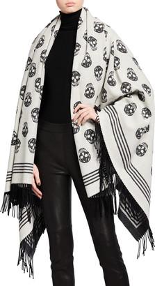 Alexander McQueen Biker Wool/Cashmere Blanket Scarf