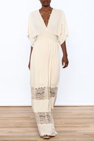 Love Stitch Lovestitch Beige Sarah Maxi Dress