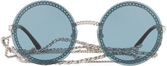 Chanel Round Frame Chain Sunglasses