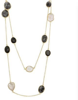 Mother of Pearl Black Onyx, Dendrite & Necklace