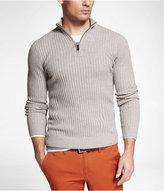 Express Zip Mock Neck Sweater