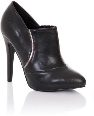 Little Mistress Footwear Black Stiletto Heel Ankle Boots