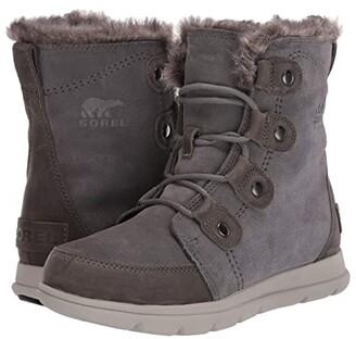 Sorel Explorer Joan (Quarry/Black) Women's Lace-up Boots