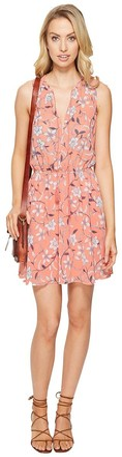 BB Dakota Women's Adeen Floral Printed Fit-n-Flare Dress