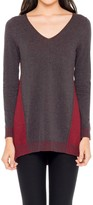 Max Studio Color Blocked Knitted Pullover