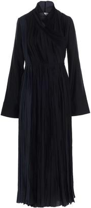 Jil Sander Pleated Wrap Maxi Dress