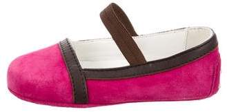 Tod's Girls' Suede Colorblock Flats