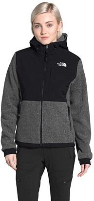 The North Face Denali 2 Hoodie (Charcoal Grey Heather 2) Women's Coat