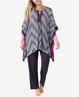 Ellen Tracy Plus Size Caftan Top and Pants Knit Pajama Set