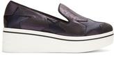 Stella McCartney Binx glitter-effect flatform loafers