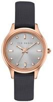 Ted Baker Women's 'Dress Sport' Multifunction Leather Strap Watch, 32Mm