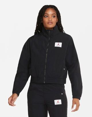 Jordan Nike Statement Essentials woven track jacket in black