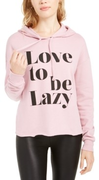 Pretty Rebellious Juniors' Love To Be Lazy Hoodie