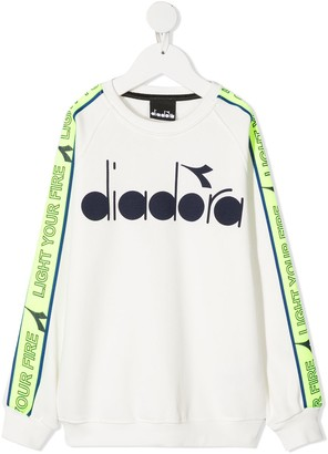 Diadora Junior Logo Colour-Block Sweatshirt