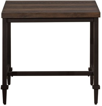 Hillsdale Furniture Trevino End Table in Distressed Walnut