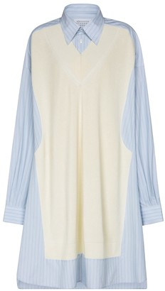 Maison Margiela Cotton-blend shirt dress