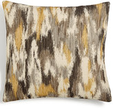 "Hallmart Collectibles Yellow & Gray Abstract-Print Textured 18"" Square Decorative Pillow"