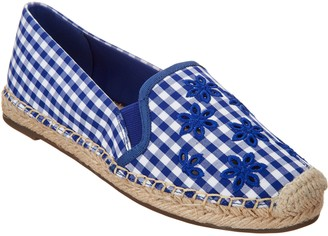 Isaac Mizrahi Live! Gingham Espadrilles with Eyelet Embroidery
