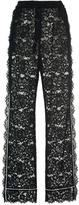 Dolce & Gabbana Wide Leg Lace Pants