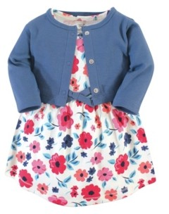 Touched by Nature Toddler Organic Dress and Cardigan Set, 2 Piece