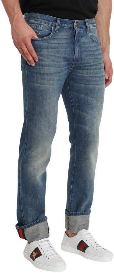 Gucci Stone Washed Blue Jeans