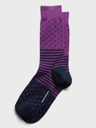 Banana Republic Dot Stripe Sock