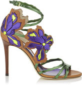 Jimmy Choo LOLITA 100 Canyon Mix Mirror Leather and Vaccetta Sandals